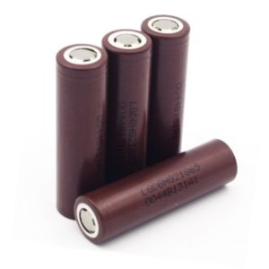 LG HG2 Brown 18650 3000mAh 20A - flat top